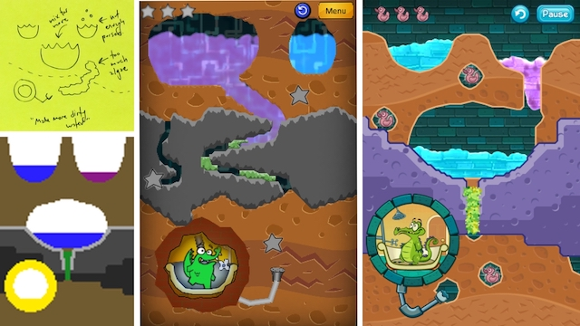 The process of taking a level from paper and intro the game.  There's even a sneak peek of my prototype Swampy!