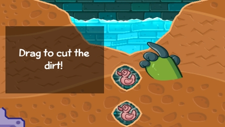 The only tutorial in <em>Where\&apos;s My Water?</em>